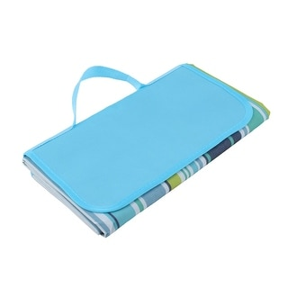 Outdoor Water Resistant Traveling Camping Beach Picnic Blanket Blue 80 x 150cm