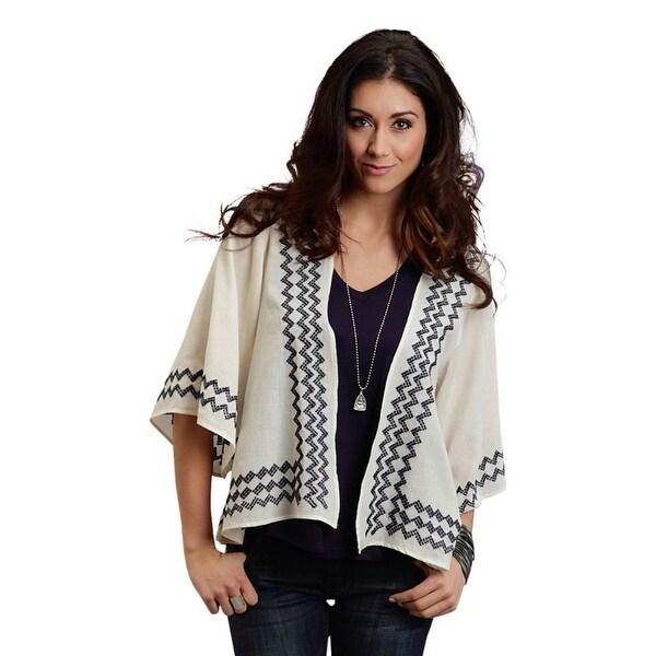Stetson Western Sweater Womens 3/4 Sleeve Tan