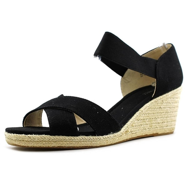 Nine West Renu Open Toe Canvas Wedge Sandal
