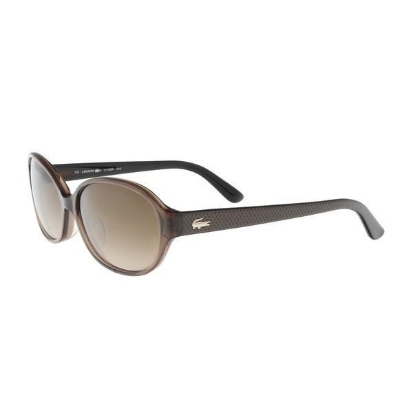 50bea2805ea2 Shop Lacoste L718 SA 210 Chocoloate Oval Sunglasses - 57-15-135 ...