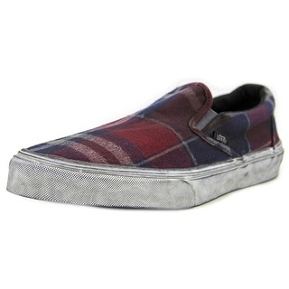 Vans Classic Slip On CA Women Round Toe Canvas Multi Color Loafer