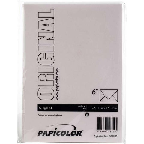 Light Pink - Papicolor A6 Envelopes 6/Pkg