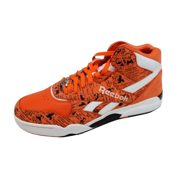 Reebok Men's Reverse Jam Mid Monopoly Chance/Orange-White 4-954996