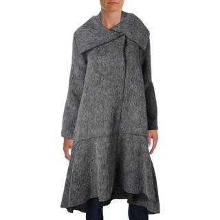 ZAC Zac Posen Womens Coat Wool Hi-Low