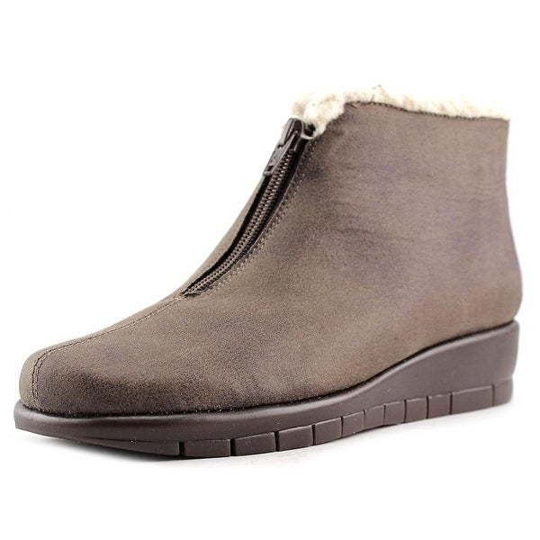 Aerosoles Nonchalant Women Round Toe Canvas Brown Ankle Boot