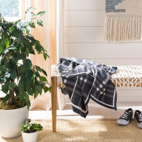 SAFAVIEH Unity Gingham Knit Throw Blanket