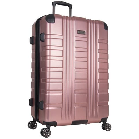 Kenneth Cole Reaction Scotts Corner 28in Expandable 8-Wheel Spinner Checked Hardside PET Luggage With TSA Lock