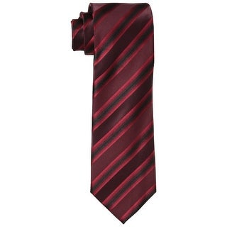 Kenneth Cole Reaction NEW Red Men's One Size Tony Stripe Silk Neck Tie