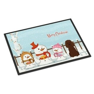 Carolines Treasures BB2394JMAT Merry Christmas Carolers Irish Water Spaniel Indoor or Outdoor Mat 24 x 0.25 x 36 in.