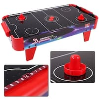 Costway 32'' Air Powered Ice Air Hockey Table Indoor Sports Game Room For Kids - Red