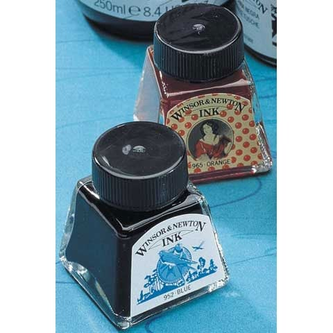 Winsor & Newton - Drawing Ink - .5 oz. Bottle - Burnt Sienna