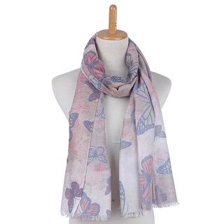 Mad Style Coral Butterfly Modal Scarf