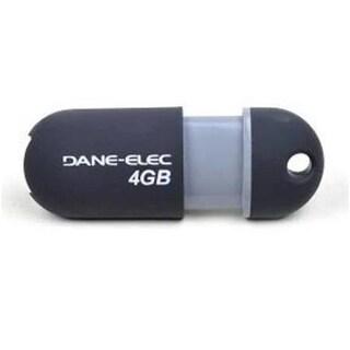 Dane Elec GS-Z04GCNBL-R 4GB USB 2.0 Flash Drive, Black