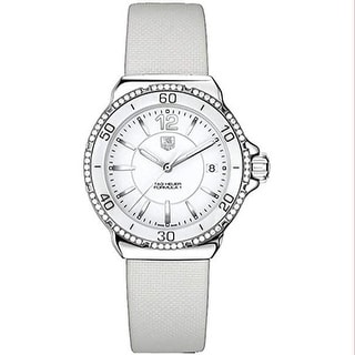 Link to Tag Heuer Women's WAH1213.FC6219 'Formula 1' White Leather Watch Similar Items in Women's Watches