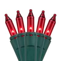"Wintergreen Lighting 15197 25.5' Long Indoor Standard 50 Mini Light Holiday Light Strand with 6"" Spacing and Green Wire"