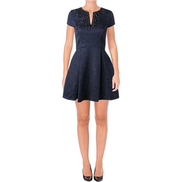 Juicy Couture Black Label Womens Balaton Party Dress Jacquard Mini