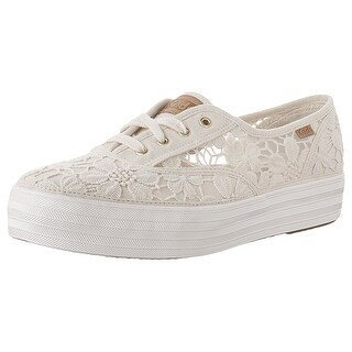 Keds Womens Triple Vintage Fabric Low Top Lace Up Fashion Sneakers