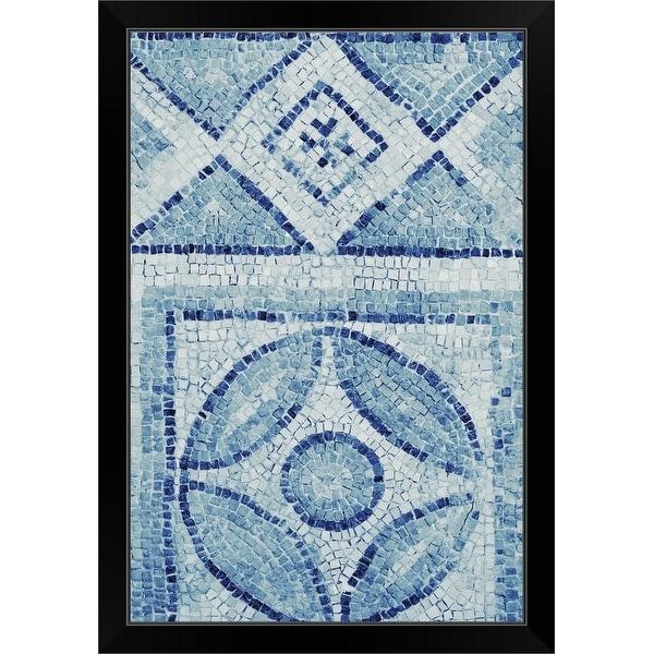 """Ancient mosaic"" Black Framed Print"