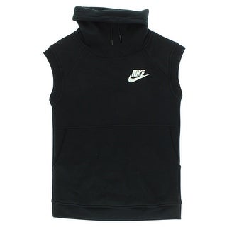 Nike Womens Sportswear Rally Funnel Sleeveless Top Black - BLACK/WHITE (5 options available)