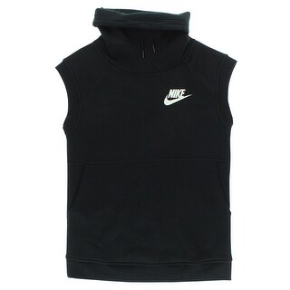 Nike Womens Sportswear Rally Funnel Sleeveless Top Black - BLACK/WHITE