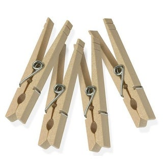 Honey Can Do DRY-01374 Wood Clothespins with Spring, 24 Pack