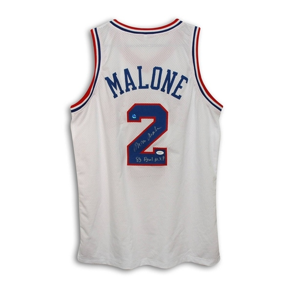 506e6b54750 Shop Moses Malone Philadelphia 76ers Autographed White Throwback Jersey  Inscribed