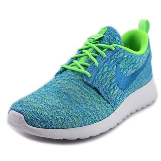 Nike Rosherun Flyknit Round Toe Synthetic Sneakers