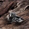 Vienna Jewelry Triple Skull Stainless Steel Ring - Thumbnail 1