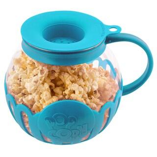 Ecolution Micro-Pop Microwave Glass Popcorn Maker, 3 Quarts (Option: Blue)