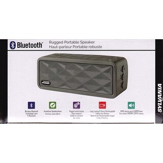 Sylvania Rugged Bluetooth Wireless Portable Speaker SP262-GRAY Manufacturer Refurbished