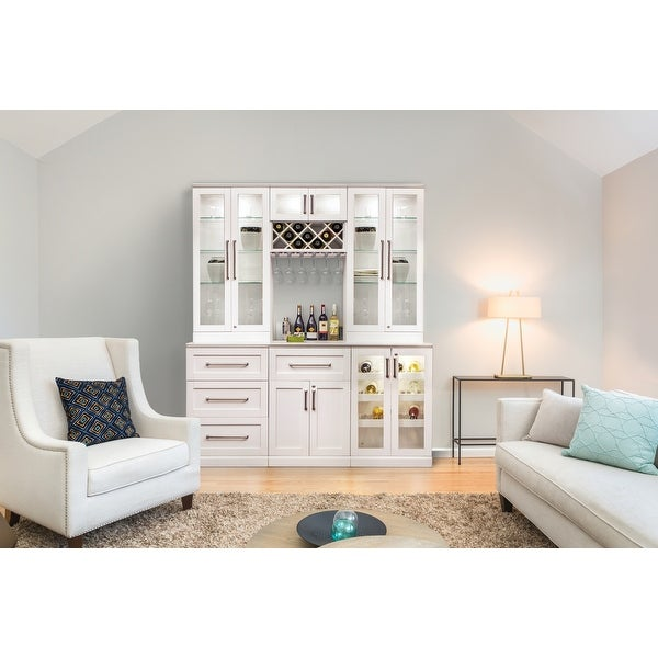 """NewAge Products Home Bar White 72"""" W x 25""""D 7 PC Shaker Style"""