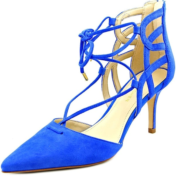 Marc Fisher Truthe Women Pointed Toe Suede Blue Heels