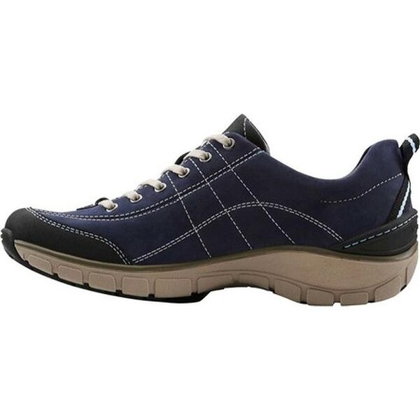 Wave.Trek Walking Shoe Navy Leather