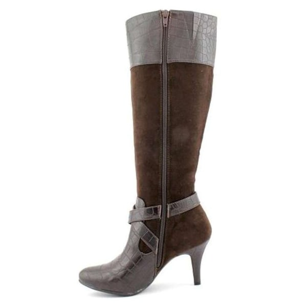 Naturalizer Womens Lidia Suede Almond Toe Knee High Fashion Boots