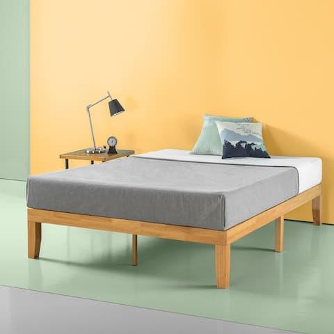 Priage by Zinus 14 Inch Solid Wood Platform Bed