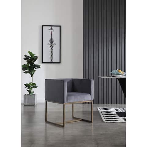 Modrest Marty Modern Dark Grey & Copper Antique Brass Dining Chair