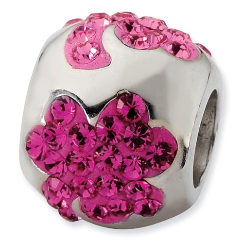 Sterling Silver Reflections Shades of Pink Flower Bead