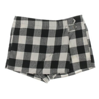 BeBop Womens Juniors Casual Shorts Faux-Wrap Plaid - 7