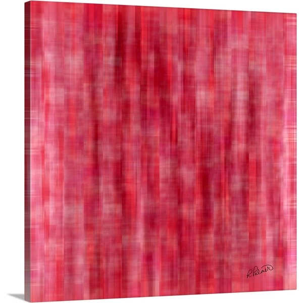 """Pink Plaid"" Canvas Wall Art"