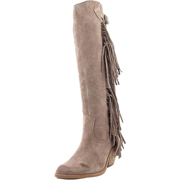 Carlos by Carlos Santana Lever Women Pointed Toe Synthetic Gray Knee High Boot