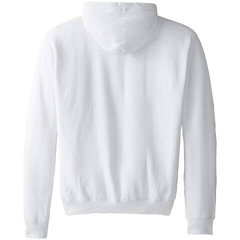 Hanes Men's Full-Zip EcoSmart Fleece Hoodie, White, X Large, White, Size X-Large