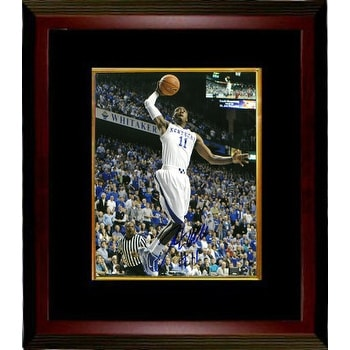 best website 0019d 377f7 John Wall signed Kentucky Wildcats 8x10 Photo 11 Custom Framed vertical  white jersey dunk BASBecke