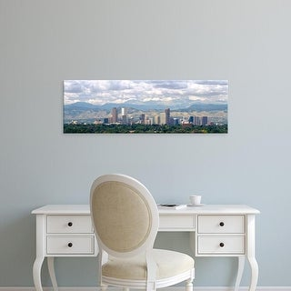Easy Art Prints Panoramic Images's 'Clouds over skyline and mountains, Denver, Colorado, USA' Premium Canvas Art