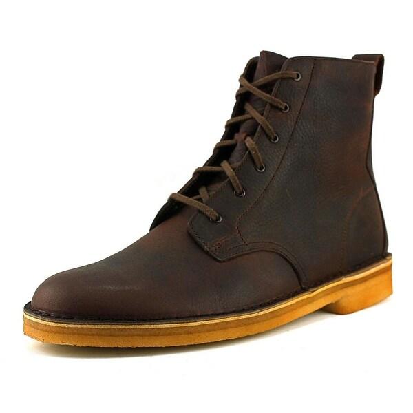 Clarks Originals Desert Mali Men Round Toe Leather Brown Desert Boot