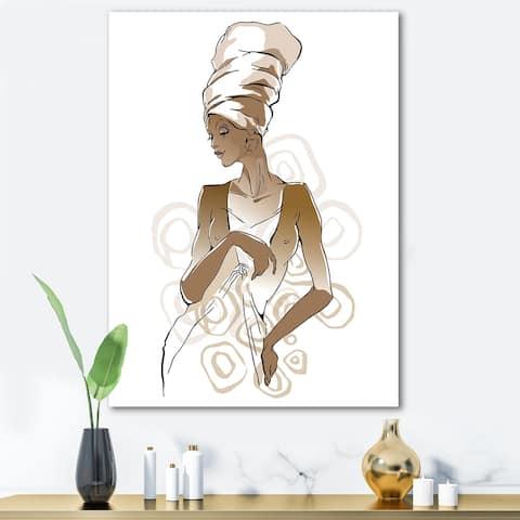 Designart 'African American Woman Portraits' Modern Canvas Wall Art Print
