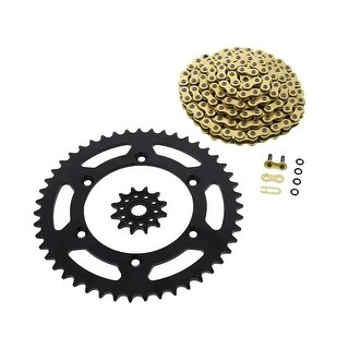 CZ ORHG X-Ring Chain and Black Sprocket Suzuki RM125 1990 - 2008 12/47 114L