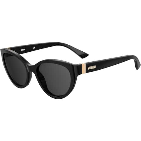 Moschino MOS065S 0807 55 BLACK FEMALE ADULT CAT EYE/BUTTERFLY Sungasses