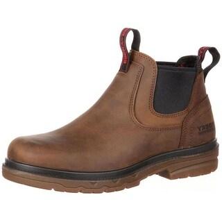 "Rocky Work Boots Mens 5"" Elements Shale Waterproof ST Brown RKK0158"