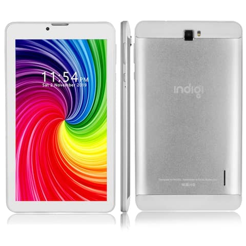 Indigi® 4G LTE Unlocked Android Pie TabletPC w/ DualSIM & WiFi Enabled, QuadCore CPU & 2GB RAM/16GB ROM up to 512GB, 3500mAh
