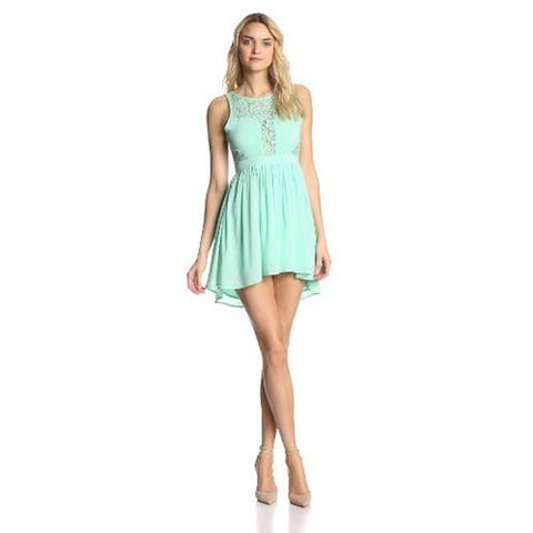 BCBGeneration Women's Lace Fit and Flare Dress, Oceanic, 12 - Oceanic